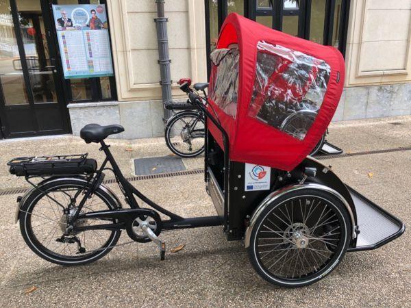 Triciclo usado en la iniciativa