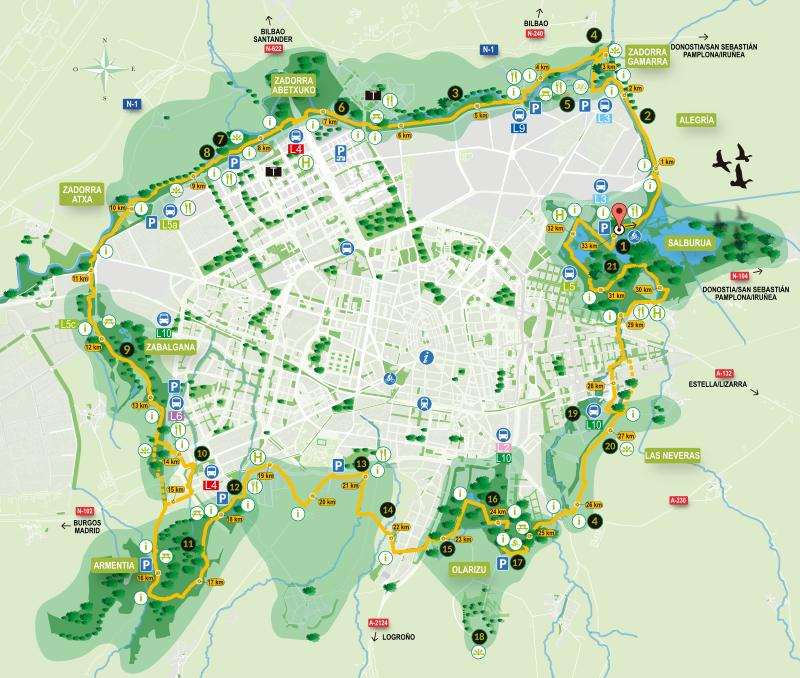 Mapa de la Vuelta