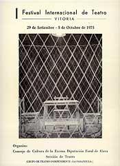 Cartel de promoción del festival del año 1975