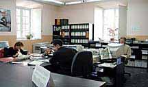 Interior de una oficina de El Campillo