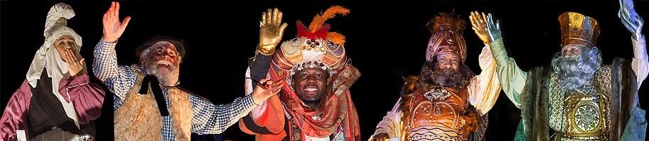 Mari Domingi y Olentzero, y Reyes Magos