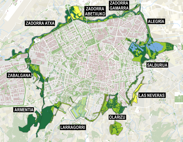 Map of the Green Belt