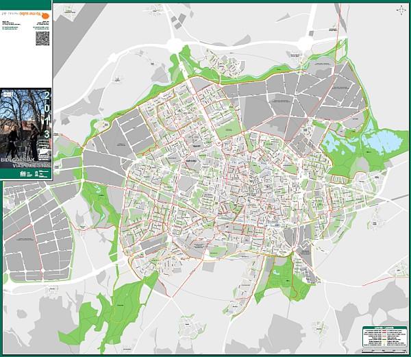 ACTUALIZADO: Plano de vías ciclistas de Vitoria-Gasteiz (Nuevo plano 2013)